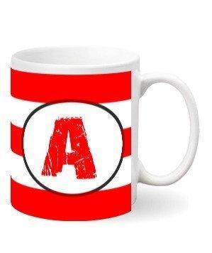 Monogram mug – A, White Mug