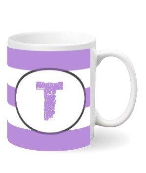 Monogram mug – T, White Mug