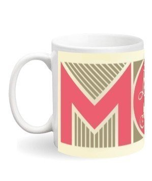 LOVE YOU MOM mug, White Mug