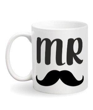 Mr., White Mug
