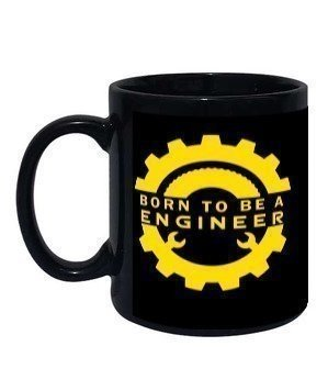 Born to be a engineer, Black Mug