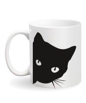 Cat Mug, White Mug