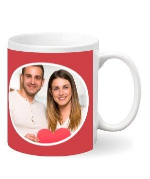 Coffee Mug with Couple Photo, White Mug