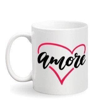 Amore, White Mug