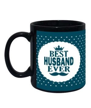 Best Husband Ever Personalized Mug, Black Mug