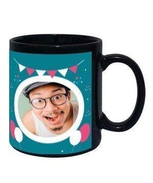 Happy birthday personalized mug, Black Mug