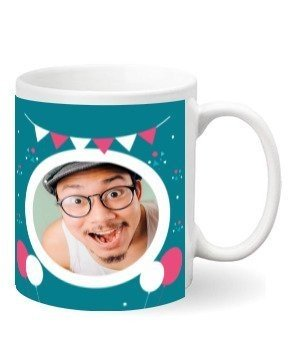 Happy birthday personalized mug, White Mug