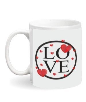 Love mug with your photo, White Mug