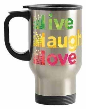 Live Laugh Love Travelling Mug, Steel Travelling Mug