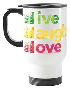 Live Laugh Love Travelling Mug, Travelling Mug