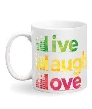 Live Laugh Love Travelling Mug, White Mug