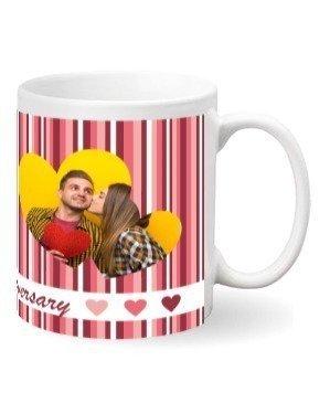 Cute Heart Print Mug