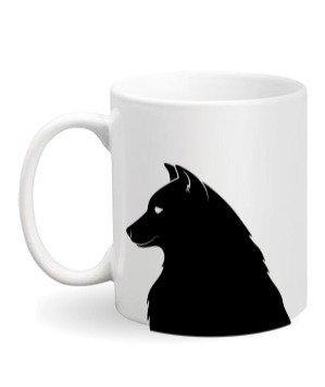 Dog Print Mug, White Mug