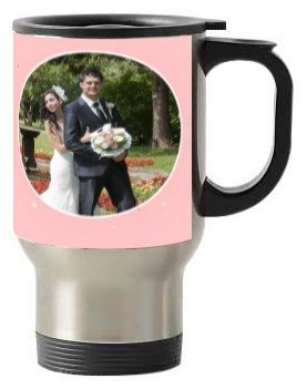 LOVE couple customize mug, Steel Travelling Mug
