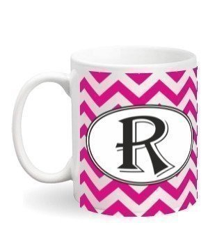 Alphabet-R Mug, White Mug
