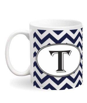 Alphabet -T Mug, White Mug