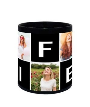 WIFEY customise mug, Black Mug