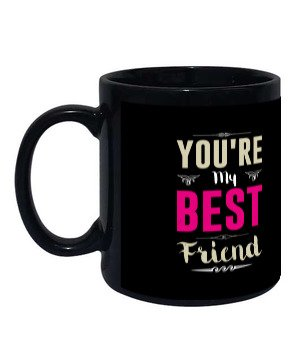 best friend, Black Mug