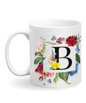 Floral Monogram B Coffee Mug