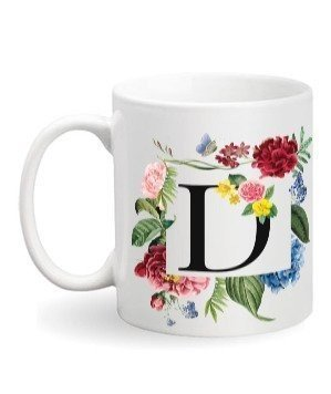 Floral Monogram D Coffee Mug