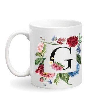Floral Monogram G Coffee Mug