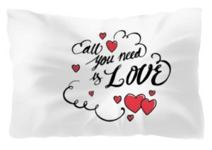all you need is love pillow, Pillow
