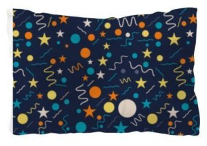 Splash shapes seamless pattern comfort pillow, Pillow