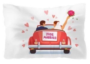 Just Married comfort pillow
