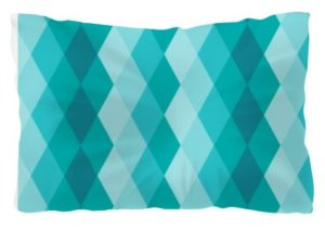 Blue Ceramic Tile Pattern Comfort Pillow, Pillow