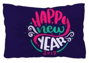 Happy New Year 2019 Pillow