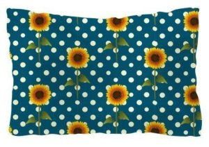 Floral polka pattern, Pillow