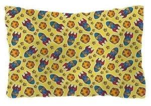 Rocket pattern pillow