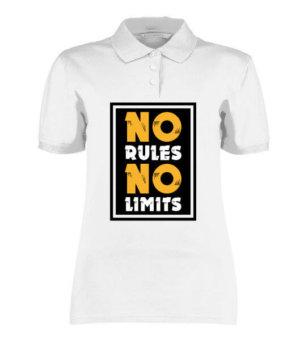 No Rules No Limits, Women's Polo Neck T-shirt