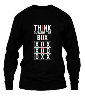 Think Outside The Box, Men's Long Sleeves T-shirt