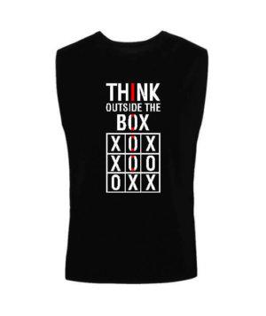 Think Outside The Box, Men's Sleeveless T-shirt
