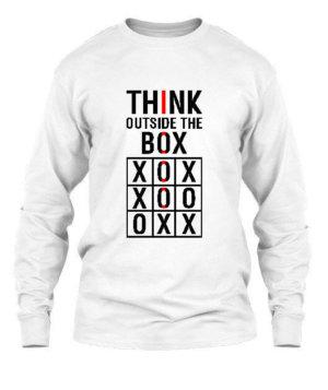 Think Outside The Box, Men's Long Sleeves T-shirt
