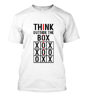 Think Outside The Box, Men's Round T-shirt