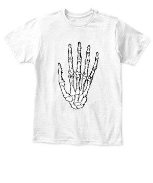 Skeleton Hand, Kid's Unisex Round Neck T-shirt