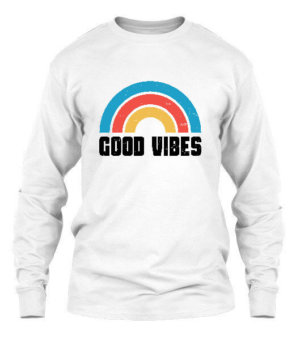 Good Vibes, Men's Long Sleeves T-shirt