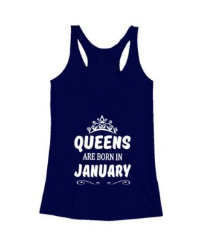 Queens are born in January Hoodie, Women's Tank Top