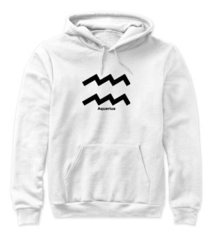 Aquarius Symbol, Women's Hoodies