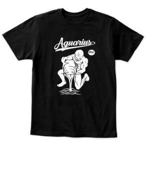 Aquarius Tshirt, Kid's Unisex Round Neck T-shirt