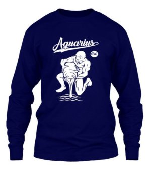 Aquarius Tshirt, Men's Long Sleeves T-shirt