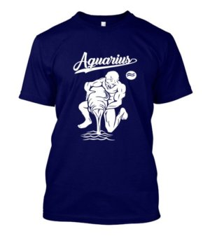 Aquarius Tshirt, Men's Round T-shirt