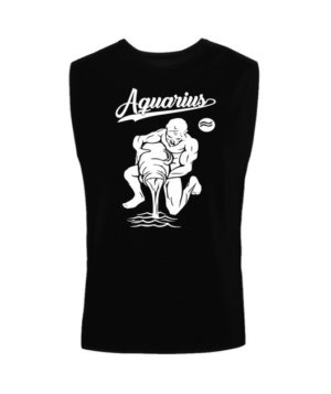 Aquarius Tshirt, Men's Sleeveless T-shirt
