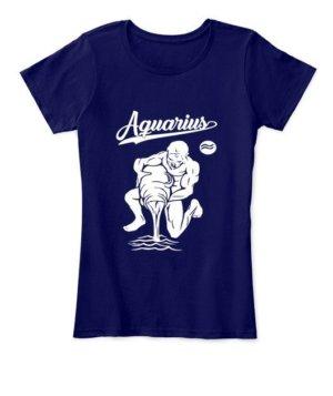 Aquarius Tshirt, Women's Round Neck T-shirt