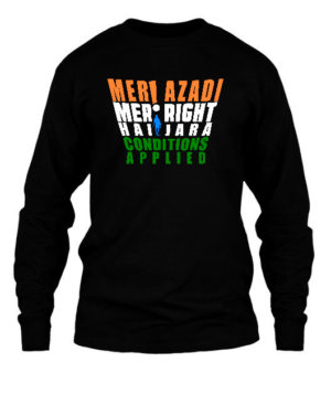 Meri Azadi Meri Right, Men's Long Sleeves T-shirt