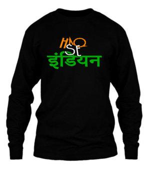 Haq Se India, Men's Long Sleeves T-shirt