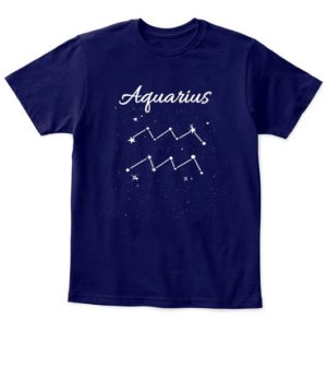 Constellation-Aquarius Tshirt, Kid's Unisex Round Neck T-shirt