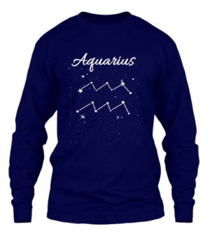 Constellation-Aquarius Tshirt, Men's Long Sleeves T-shirt